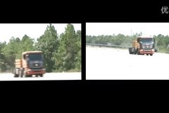 国内首次 联合卡车爆胎稳定性测试试验