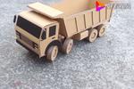 硬纸板能干嘛?牛人用纸板DIY了前四后八大货车