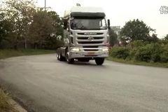 卡车之家抢先试驾东风柳汽霸龙康明斯M7C