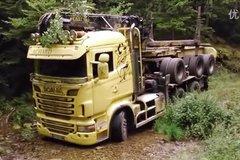 斯堪尼亚在欧洲的原木运输生活