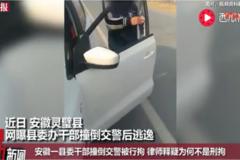 县委干部撞倒交警被行拘,律师解释为何不是刑拘