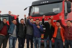 贵阳小刘携大件运输车队全体人员给卡友拜年啦!