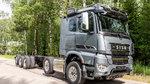 北欧钢铁怪兽 芬兰西苏10x4大型机械运输卡车