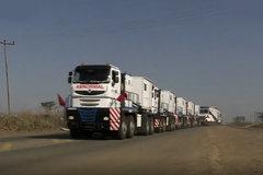 338个轮胎,11个发动机,6000匹马力的货车你见过吗?