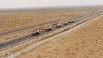 重汽T7H智能卡车编队行驶奔赴新疆