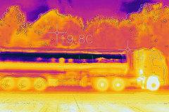 物流老板提车记(六)热成像视角下的重汽T7H智能卡车