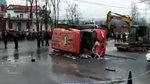 事故�F�觯��拍:河南固始公交�撞��确�事故已致19人身亡