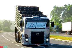 撅着屁股拉货 真的无法理解巴西卡车司机的审美