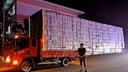 这是个什么马路巨兽 小货车超长3倍惊呆交警