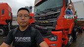 工厂偷拍3台被撞的卡车 实际感受驾驶室后移如何保障乘员安全