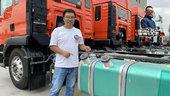 双腔还带水循环加热 6.8米载货竟然用600升油箱