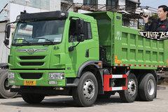 合规装17吨砂石料 解放龙V 6x2R自卸车实拍
