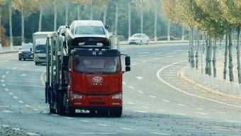 一汽解放领航版2.0全面升级  整车自重轻至8.3吨