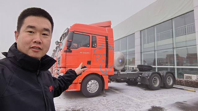 能上京牌的LNG牵引车太少见 440马力汕德卡卖44.6万 值得买吗?