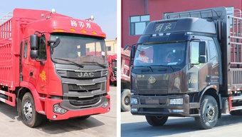 搭载6缸机的6米8仓栏载货车 这两款拉绿通 你更喜欢哪个?