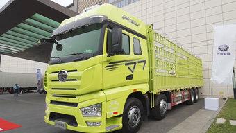 解放J7 8X4载货车总设计师  560马力+AMT针对高附加值市场研发