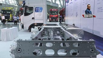 13升动力 自重7.2吨 为了轻量化这台乘龙H7大梁也用铝合金