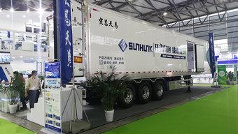 整车加机组仅8.3吨 这款无大梁的冷藏半挂比二手海柜更轻更保温