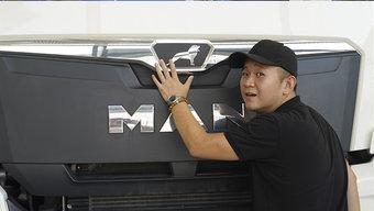 售价80万 换装国六动力的曼恩TGX来了 这驾驶室真够人性化!