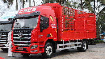 国六240马力 仅7吨自重还有豪华内饰 这款红岩杰豹H6载货车很有范