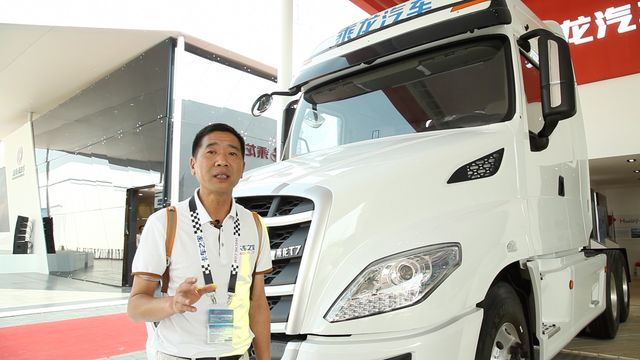 柳汽长头车乘龙T7国内首秀 欧式设计引关注