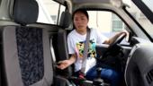 学姐首次实测垃圾车 驾驶技术秒杀老司机