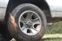 最快速的充气方法,轮胎瞬间充满,涨见识了