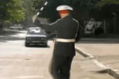 哈哈 好搞笑 这样的司机碰瓷的见了都怕!